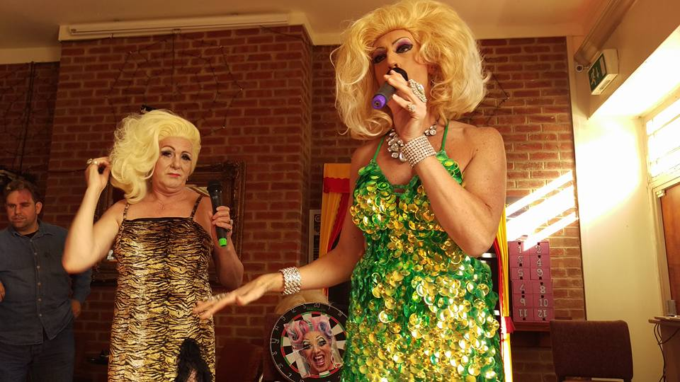 Fonda Cox and Kitty Monroe at the Hart in Eastbourne