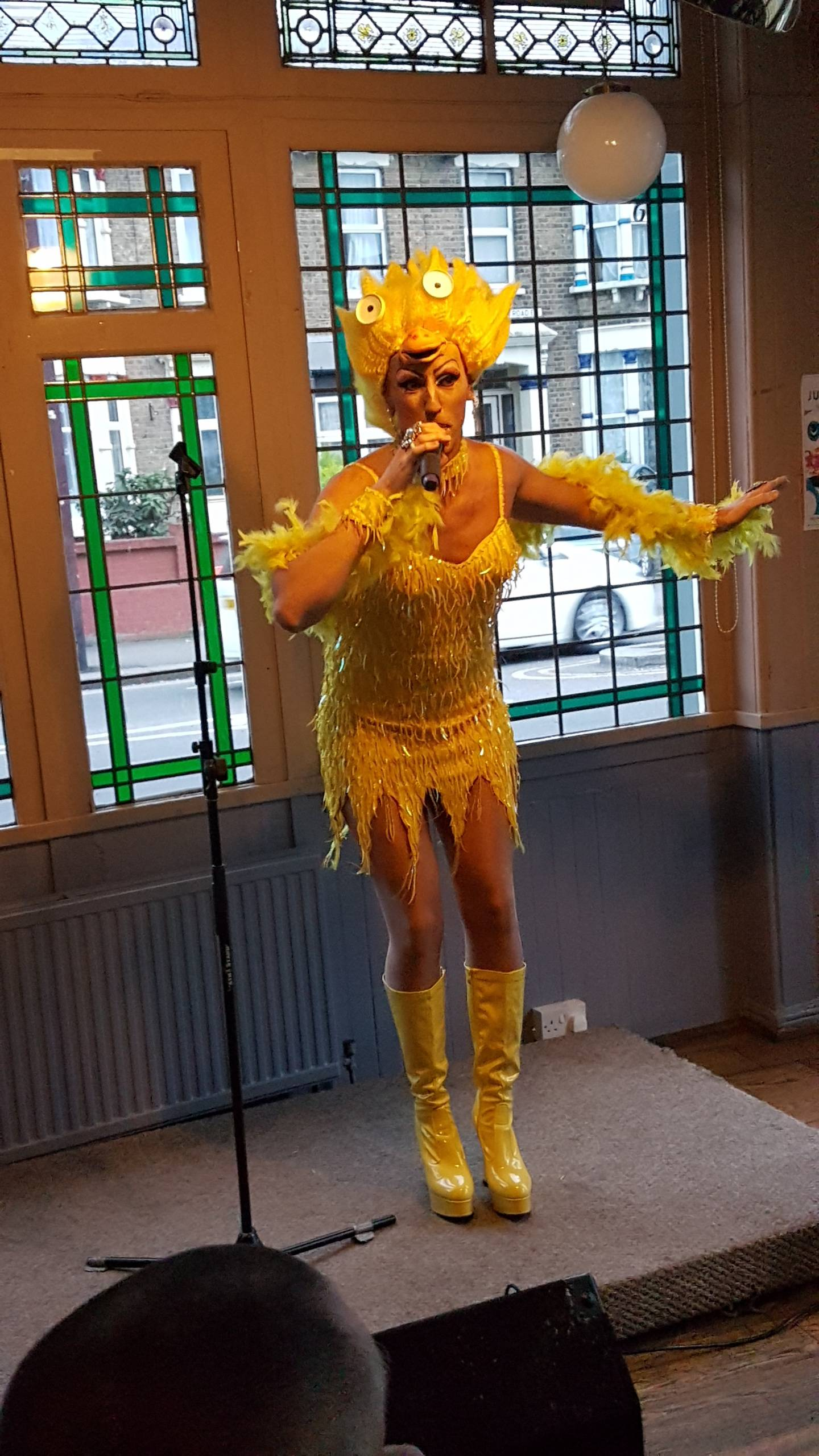 Fonda dressed as an Easter chick
