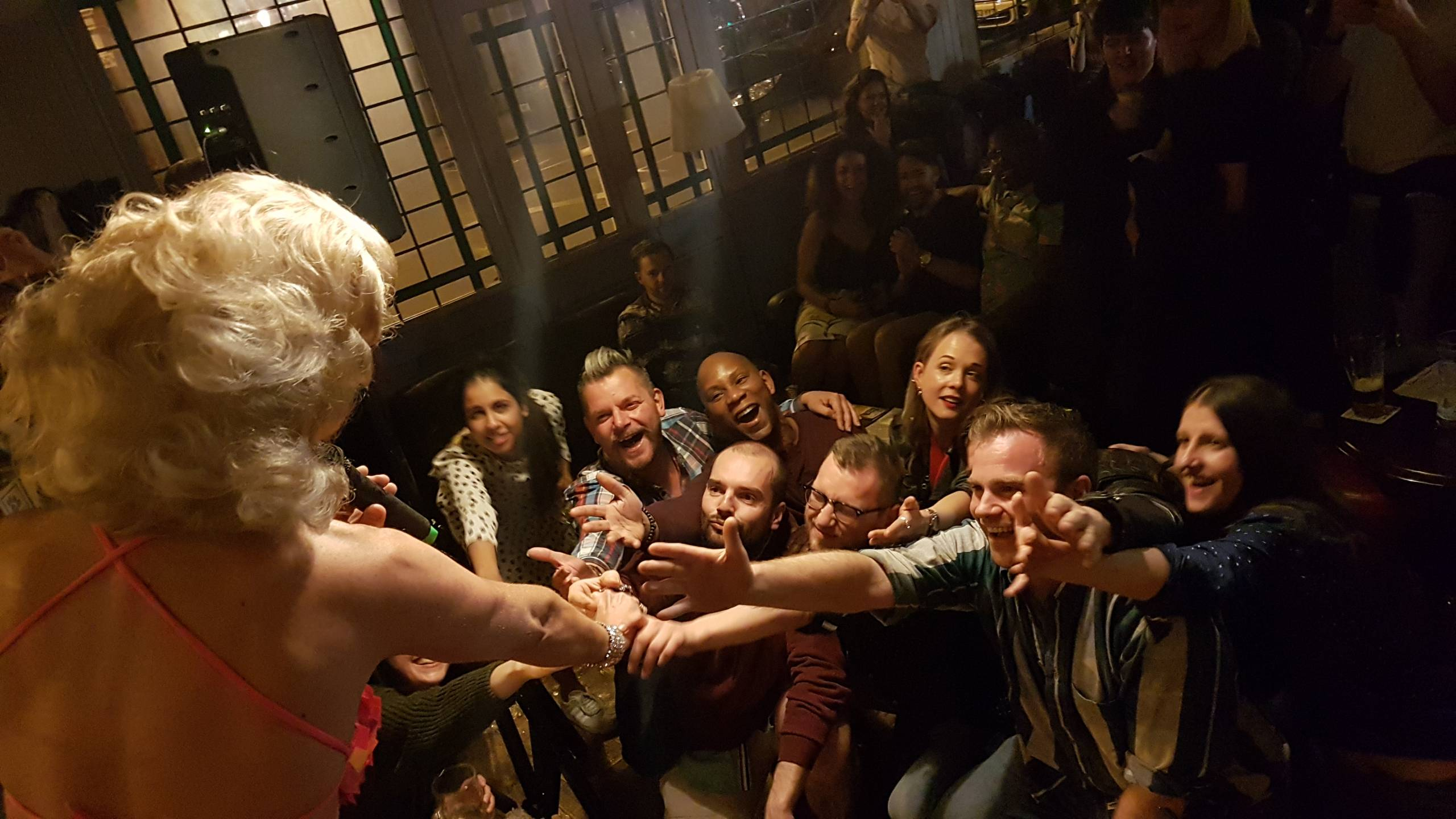 Fonda and her many fans at the Northcote Arms