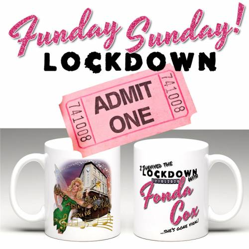 Funday Sunday July ticket with mug