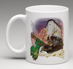 mug with fonda dressed as fairy